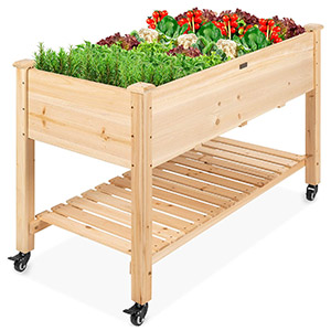 Best Choice Products Mobile Raised Garden Bed