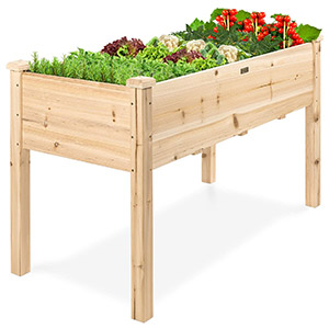 Best Choice Products Raised Wooden Garden Bed