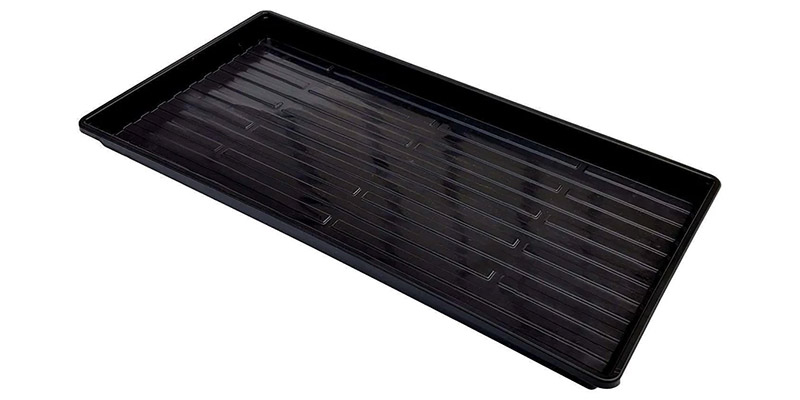 1020 Microgreen Trays- Shallow Extra Strength Black