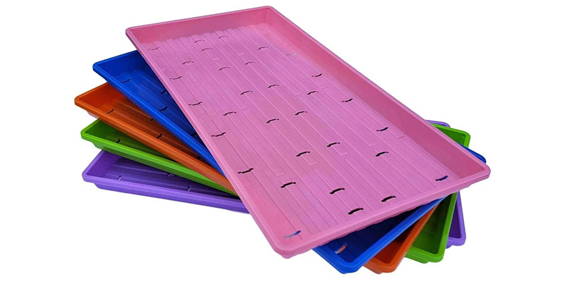 1020 Microgreen Trays- Shallow Extra Strength Colors