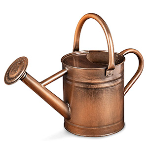 Homarden Half Gallon Copper Colored Metal Watering Can